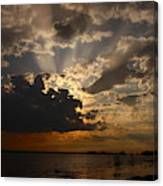Cheboygan Lakeside Sunset Canvas Print