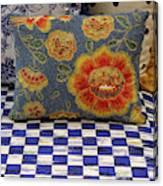 Checkerboard And Pillow Canvas Print