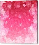 Cherry Plum Greeting Cards Canvas Print
