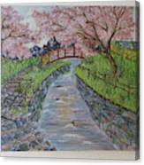 Cherry River Canvas Print