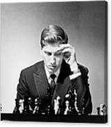 Chess Champion Robert J. Fisher Playing Canvas Print
