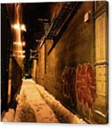 Chicago Alleyway At Night Canvas Print