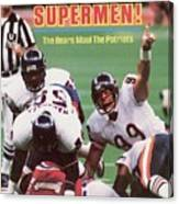 Chicago Bears Dan Hampton, Super Bowl Xx Sports Illustrated Cover Canvas Print