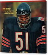 Chicago Bears Dick Butkus, 1970 Nfl Football Preview Issue Sports Illustrated Cover Canvas Print
