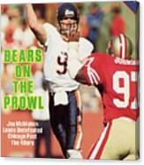 Chicago Bears Qb Jim Mcmahon... Sports Illustrated Cover Canvas Print