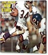Chicago Bears Walter Payton... Sports Illustrated Cover Canvas Print