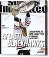 Chicago Blackhawks Jonathan Toews, 2010 Nhl Stanley Cup Sports Illustrated Cover Canvas Print