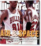 Chicago Bulls Dennis Rodman And Michael Jordan Sports Illustrated Cover Canvas Print