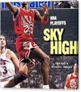 Chicago Bulls Michael Jordan, 1988 Nba Eastern Conference Sports Illustrated Cover Canvas Print