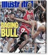 Chicago Bulls Michael Jordan, 1989 Nba Eastern Conference Sports Illustrated Cover Canvas Print
