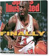 Chicago Bulls Michael Jordan, 1991 Nba Eastern Conference Sports Illustrated Cover Canvas Print