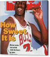 Chicago Bulls Michael Jordan, 1992 Nba Finals Sports Illustrated Cover Canvas Print