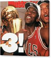 Chicago Bulls Michael Jordan, 1993 Nba Finals Sports Illustrated Cover Canvas Print