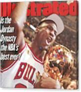 Chicago Bulls Michael Jordan, 1997 Nba Finals Sports Illustrated Cover Canvas Print