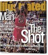 Chicago Bulls Michael Jordan, 1998 Nba Finals Sports Illustrated Cover Canvas Print