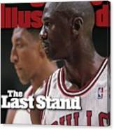 Chicago Bulls Michael Jordan And Scottie Pippen, 1998 Nba Sports Illustrated Cover Canvas Print
