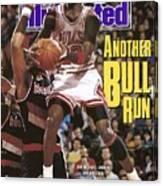 Chicago Bulls Michael Jordan Sports Illustrated Cover Canvas Print