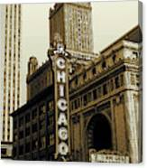Chicago Cinema Theater - Vintage Photo Art Canvas Print
