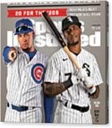 Chicago Cubs Javier Baez And Chicago White Sox Tim Sports Illustrated Cover Canvas Print