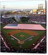 Chicago Cubs V Los Angeles Angels Of Canvas Print