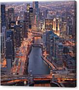Chicago Downtown - Aerial View Canvas Print