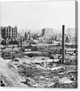 Chicago Fire Of 1871 Canvas Print