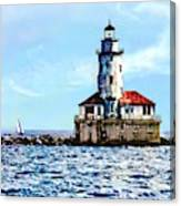 Chicago Il - Chicago Harbor Lighthouse Canvas Print