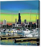 Chicago Marina Canvas Print