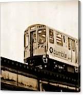 Chicago Metra Sepia Canvas Print