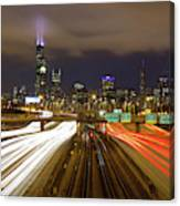 Chicago Skyline South Side View Canvas Print