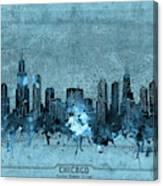 Chicago Skyline Vintage 4 Canvas Print