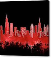 Chicago Skyline Watercolor 5 Canvas Print