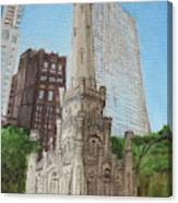 Chicago Water Tower 1c Canvas Print