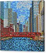 Chicago Wells Street Bridge 2 Canvas Print