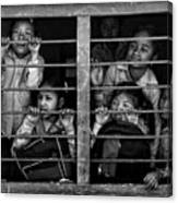 Children Of Kathmandu (1) Mono Version Canvas Print