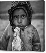 Children Of Nepal - Monochrome Portraits Canvas Print