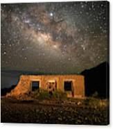 Chisos Mountain Homestead Under The Milky Way Canvas Print