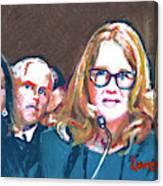 Christine Blasey Ford Testifies Before Senate Canvas Print