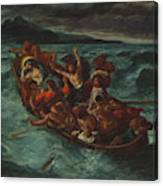 Christ Asleep During The Tempest  Canvas Print