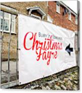 Christmas Fayre Sign Canvas Print