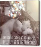 Christmas Nap Quote Canvas Print