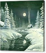 Christmas Night In The Country Canvas Print