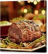Christmas Roast Beef Dinner Canvas Print