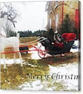 Christmas Sleigh Canvas Print