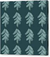 Christmas Tree Pattern Canvas Print