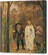 Christus Und Die J Nger Von Emmaus 1914 Canvas Print