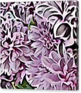 Chrysanthemum Abstract. Canvas Print