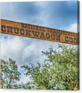 Chuckwagon Cookoff Canvas Print