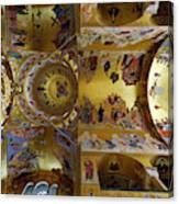 Church Ceiling Serbian Orthodox Resurrection Cathedral Saborni Hram Hristovog Vaskrsenja Podgorica Canvas Print