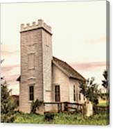 Church In Bowman North Dakota Canvas Print